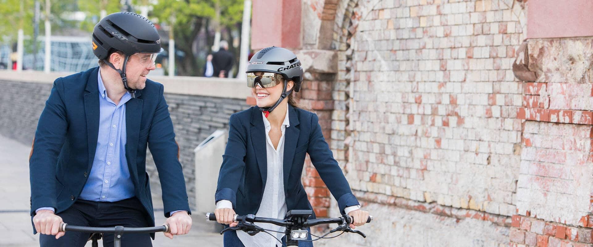 E-Bike Helm mit Visier