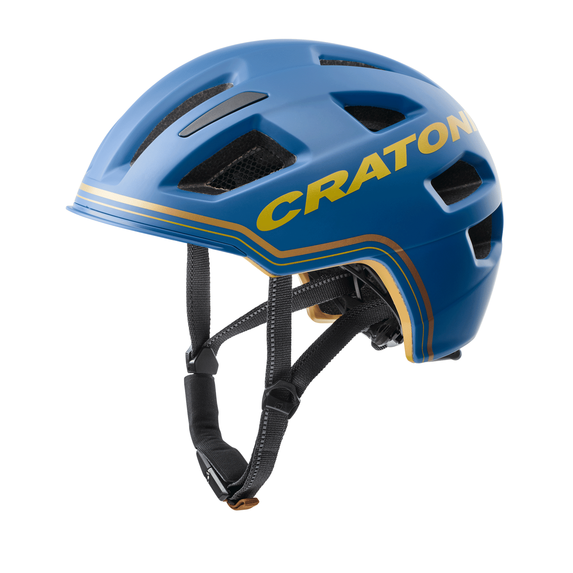Cratoni C-Pure blue gold matt