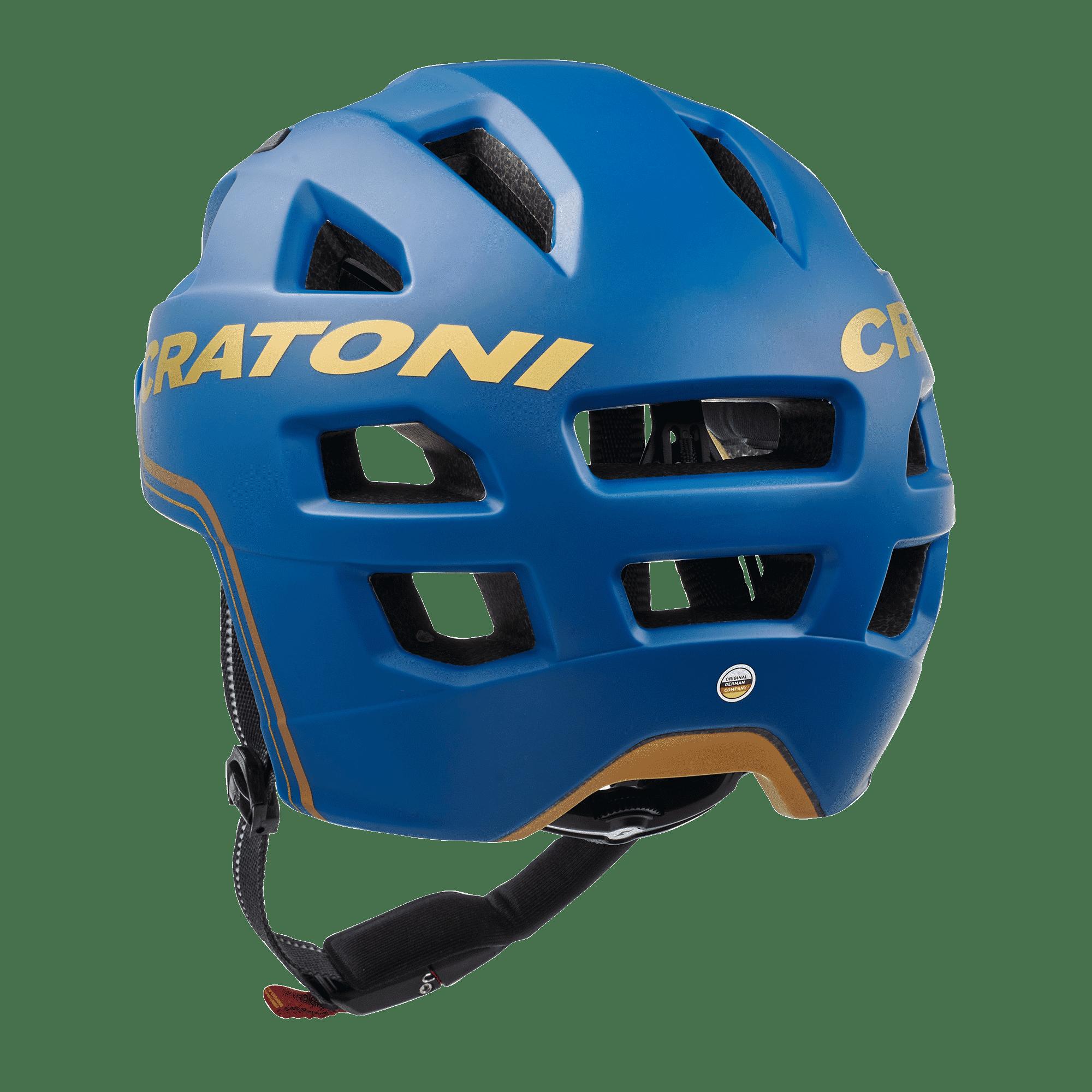 Cratoni C-Pure blue gold matt Rückansicht