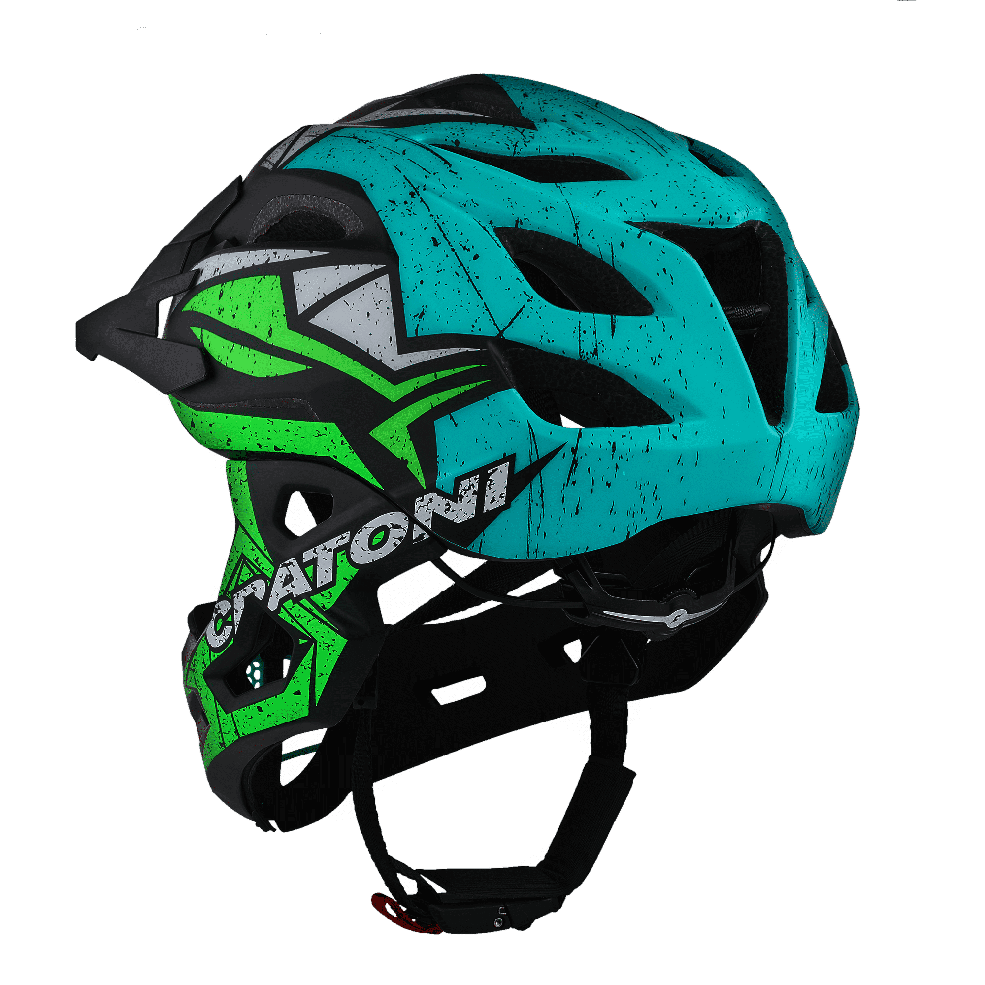 C-Maniac Pro Black Lime Turquoise Matt Rückansicht